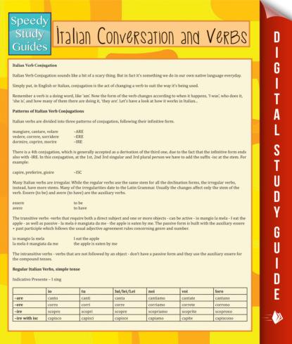 Italian Conversation and Verbs (Speedy Language Study Guide)