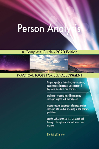 Person Analysis A Complete Guide - 2020 Edition