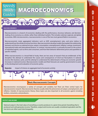 Macroeconomics (Speedy Study Guides)