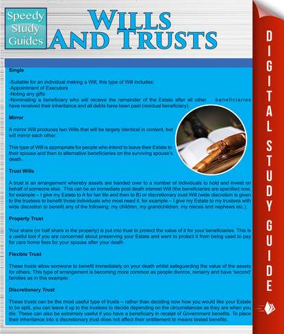 Wills And Trusts (Speedy Study Guides)