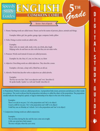 English Common Core 5Th Grade (Speedy Study Guides)