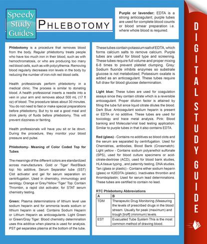 Phlebotomy (Speedy Study Guides)