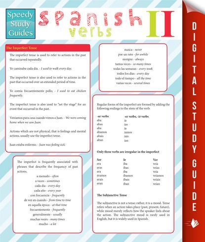 Spanish Verbs Il (Speedy Study Guides)